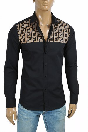 FENDI Men's FF Shirt In Black 54