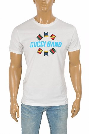 GUCCI cotton T-shirt with front print 271
