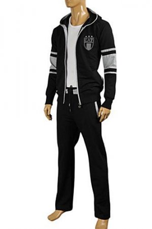 EMPORIO ARMANI Men's Zip Up Hooded Tracksuit #126