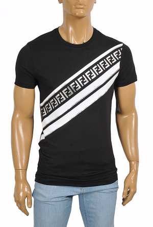 FENDI men's cotton t-shirt with front FF print 51
