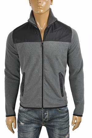 PRADA men's fleece fool-zip jacket 40