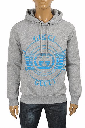 GUCCI front print hooded sweatshirt 118