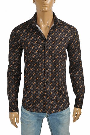 GUCCI GG tiger men's dress shirt 407