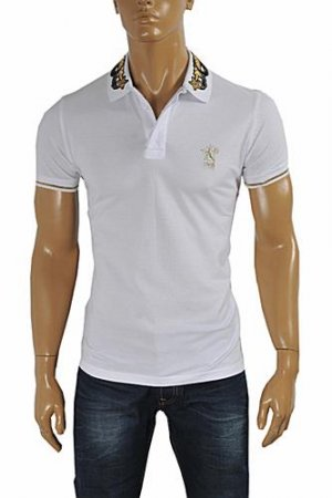 CAVALLI CLASS men's polo shirt with collar embroidery #372