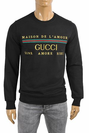 GUCCI Men's cotton sweatshirt with logo 108