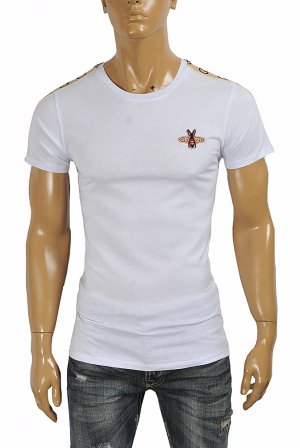 GUCCI Men's cotton t-shirt with Bee appliqué 280