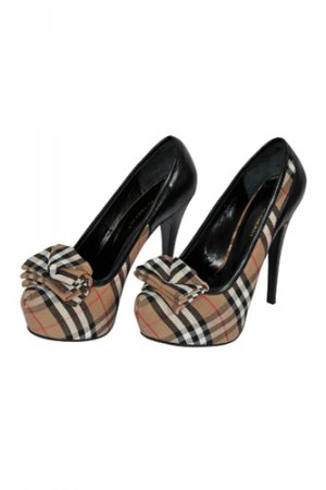 BURBERRY High-Heel Luxury Shoes #245