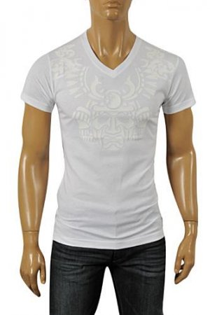 VERSACE Men's V-Neck Short Sleeve Tee #76