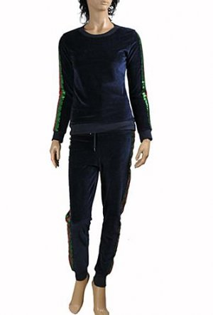 GUCCI Ladies Tracksuit In Navy Blue #150