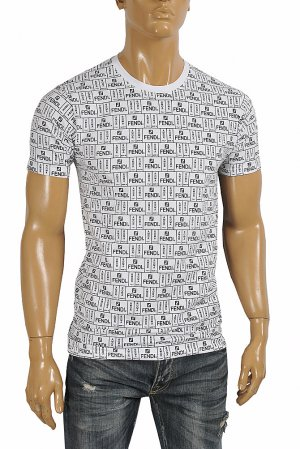 FENDI men's cotton t-shirt with print 47