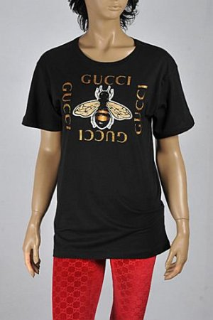 GUCCI Women's Bee embroidered cotton t-shirt #226