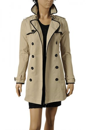 GUCCI Ladies Double-Breasted Trench Coat #130
