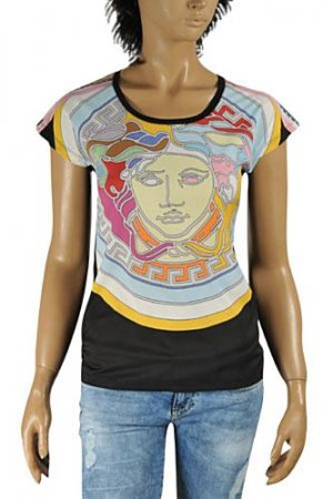 VERSACE Women's Fashion Short Sleeve Tee #102