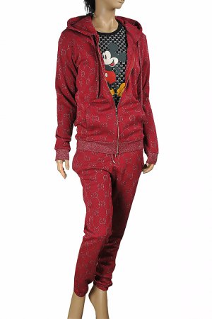 GUCCI women's GG jogging suit in burgundy 176