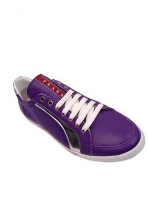 PRADA Ladies Leather Sneakers Shoes #121