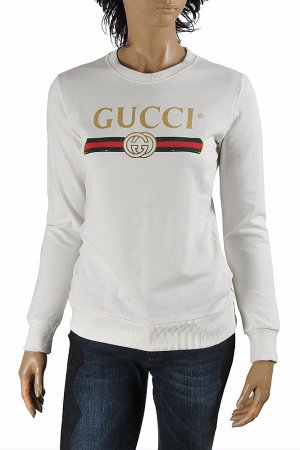 GUCCI women's cotton sweatshirt with front logo print 113