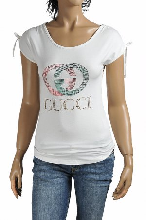 GUCCI women's t-shirt with GG logo appliqué 265