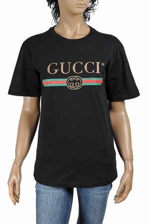 GUCCI women's oversize T-shirt with front logo print 270