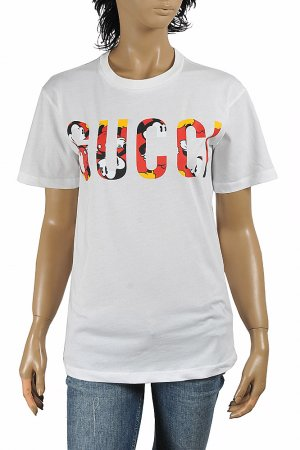 Disney x Gucci oversize T-shirt, women's, cotton 269