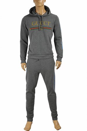 GUCCI men's zip up jogging suit, sport hoodie and pants 165