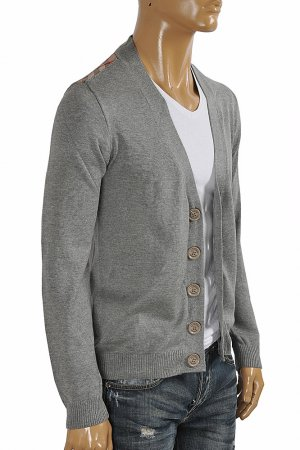 BURBERRY men cardigan button down sweater in gray color 267