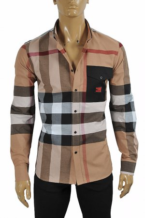 BURBERRY Men's Cotton Oxford Shirt With Front Pocket 284