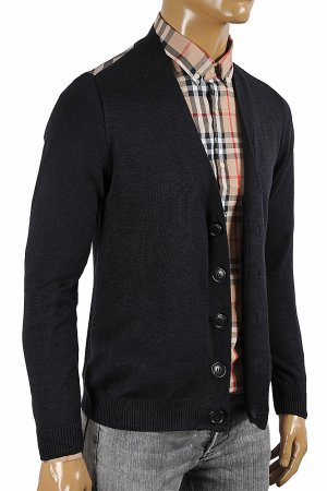 BURBERRY men cardigan button down sweater 265