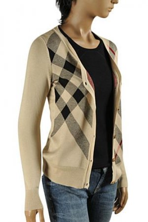 BURBERRY Women's V-Neck Button Up Sweater #46