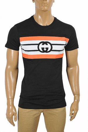 GUCCI cotton T-shirt with front print logo 289