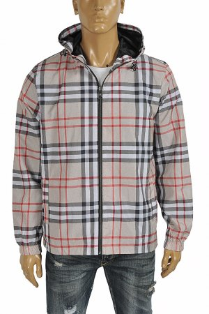 BURBERRY Men's windbreaker hooded jacket 55