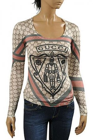 GUCCI Ladies' Knit Fitted Top/Sweater #90