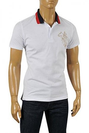 GUCCI Men's Cotton Polo Shirt In White 316