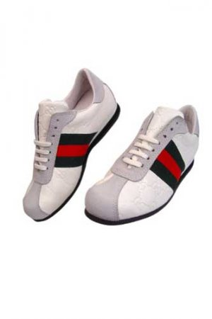 GUCCI Ladies Leather Sneakers Shoes #170