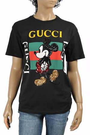 DF NEW STYLE, DISNEY x GUCCI men's T-shirt with front vintage lo