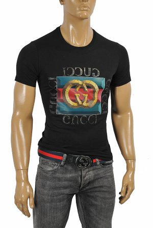 GUCCI front print cotton T-Shirt #243