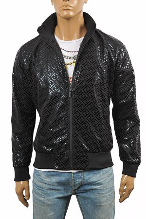 FENDI FF Men's Bomber Jacket In Black 9