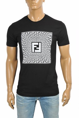 FENDI men's cotton t-shirt with front FF print 43