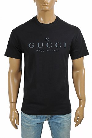 GUCCI cotton T-shirt with front logo print 292