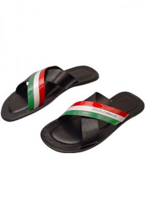 DOLCE & GABBANA Mens Leather Sandals #189