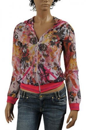 ROBERTO CAVALLI Ladies' Zip Up Hooded Jacket #70