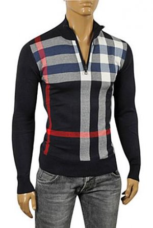 BURBERRY Men's Zip Sweater #172