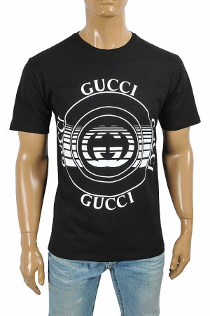 GUCCI cotton T-shirt with front print logo 287