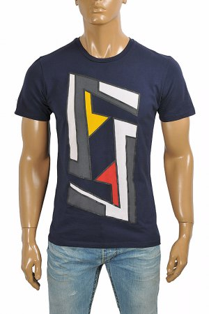 FENDI men's cotton t-shirt with front FF print 53