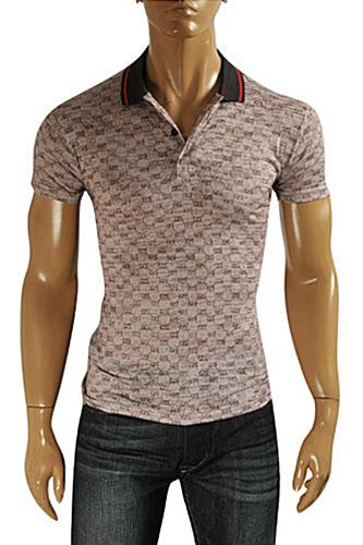 GUCCI Men's Cotton Polo Shirt #334