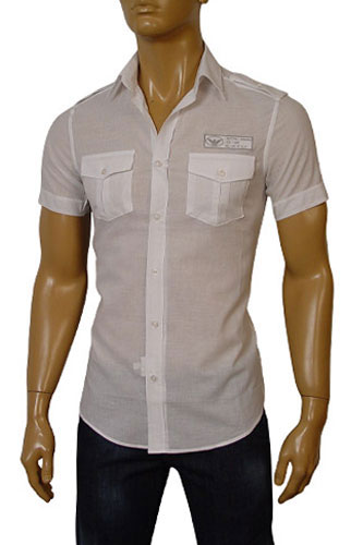 EMPORIO ARMANI Mens Short Sleeve Shirt #154