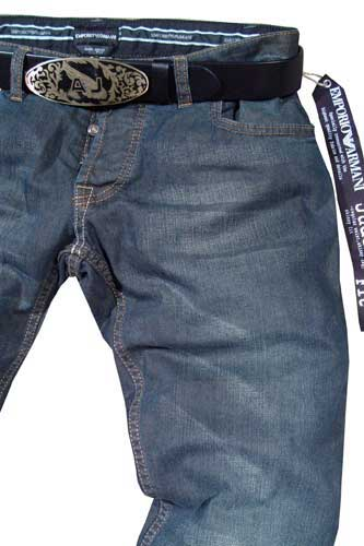 EMPORIO ARMANI Wash Denim Jeans With Belt #73