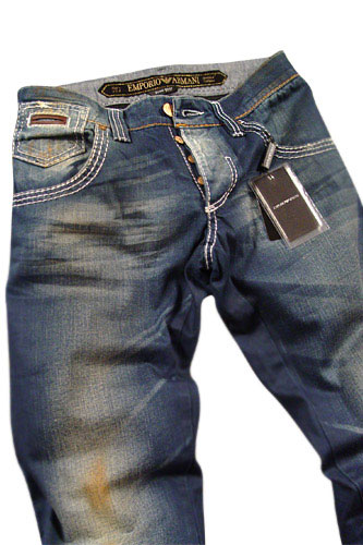 EMPORIO ARMANI Mens Washed Jeans #91