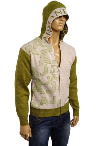 EMPORIO ARMANI Mens Hooded Warm Sweater #113