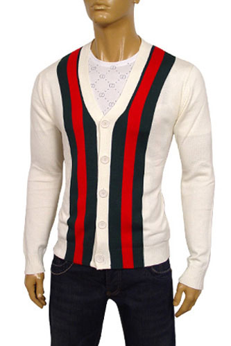 GUCCI Mens V-Neck Button Up Sweater #16