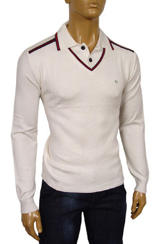 GUCCI Mens V-Neck Polo Style Sweater #27